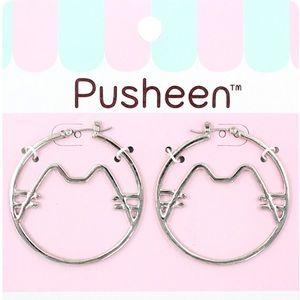 Pusheen Hoop Earrings